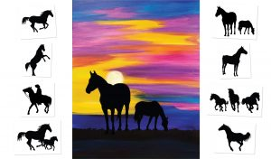 Montana Sunset - Choose your own ending (#509) • Created by Tara • 16x20 • Tier 3