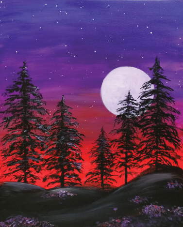 Majestic Moon (#517) • 16x20 • Tier 3