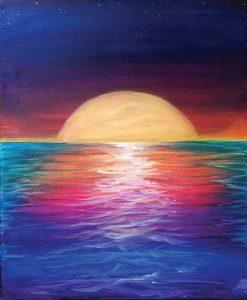 Sea Moon (#520) • Created by Tara • 16x20 • Tier 3