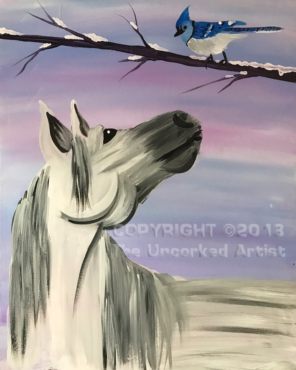 Winter Horse  (#508) • Created by Tara • 16x20 • Tier 3