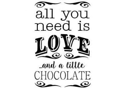 AllYouNeedIsLoveAndALittleChocolate-9x12