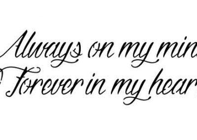 AlwaysOnMyMindForeverInMyHeart-16x6