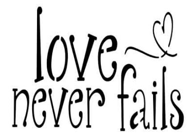 LoveNeverFails-12x9
