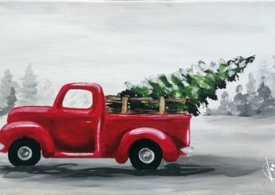 Bringing Home The Tree • Thanks to Shanna Cramer • 10x20, wood or canvas • Tier 3