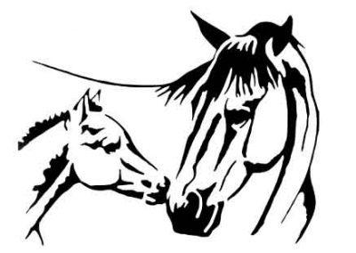 HorseMama&Baby-12x9