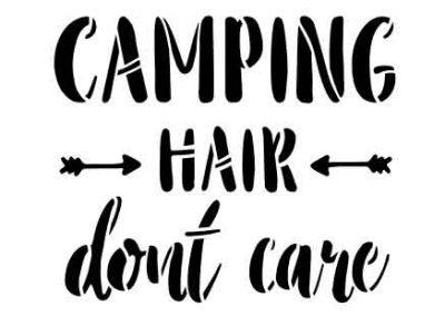 CampingHairDontCare-12x12