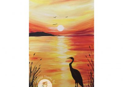 Egret Sunset (#521) • Instant Artist • 16x20 • Tier 3