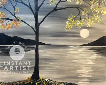 Fall Moon Tree (#536) • Instant Artist • 16x20 • Tier 3