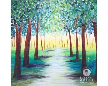 Green Tree Path (#581) • Instant Artist • 12x12 • Tier 3