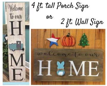 Interchangeable Home Sign (#538) • Instant Artist • 16x20 • Tier 3