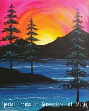 Lakeside Sunset  (#539) • Generations Studio • 16x20 • Tier 3