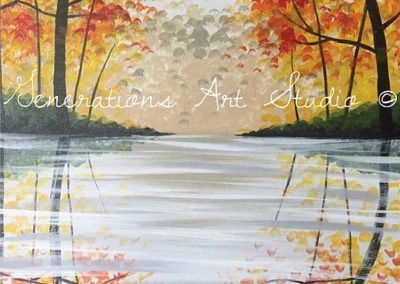 Fall Reflections (#574) • Generations Studio • 16x20 • Tier 3