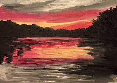 Gray Sunset (#569) • Instant Artist • 16x20 • Tier 3