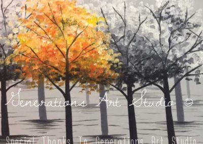 Greyscale Maples (#568) • Generations Studio • 16x20 • Tier 3