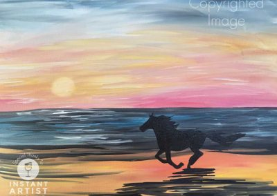 Horse On The Beach (#567) • Instant Artist • 16x20 • Tier 3