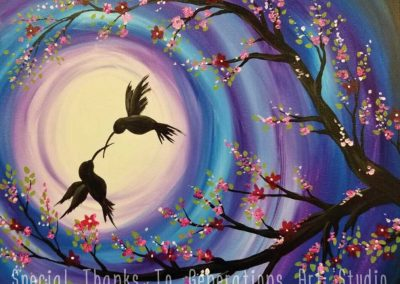 Hummingbirds At Night (#580) • Generations Studio • 16x20 • Tier 3