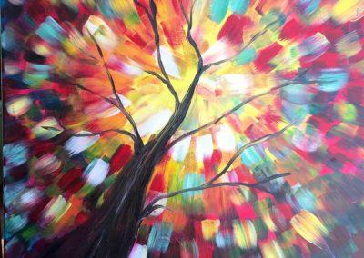 Kaliedoscope Tree (#565) • Instant Artist • 16x20 • Tier 3