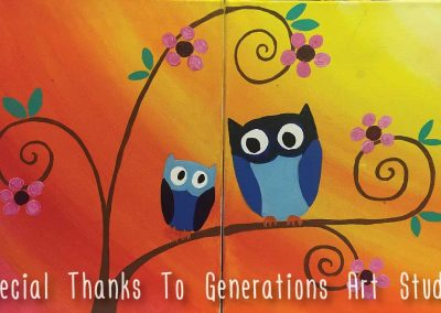 Mommy And Me Owls (#560) • Generations Studio • 11x14 • Tier 3
