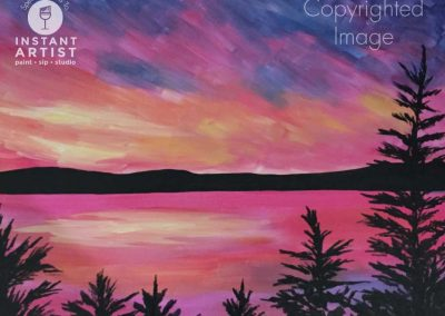 Pink Lake  (#555) • Instant Artist • 16x20 • Tier 3