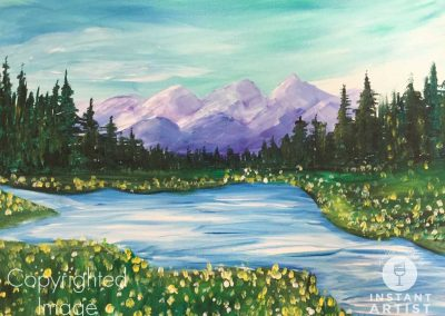 Purple Mountains  (#554) • Instant Artist • 16x20 • Tier 3