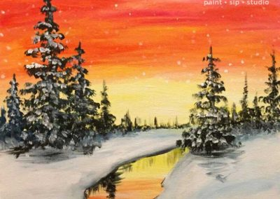 Red Sky Pines  (#553) • Instant Artist • 16x20 • Tier 3