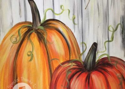 Rustic Pumpkins  (#552) • Instant Artist • 16x20 • Tier 3