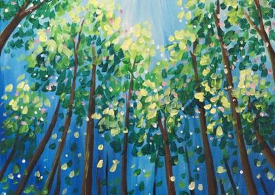 Spring Leaves  (#549) • Instant Artist • 16x20 • Tier 3