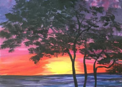 Tree Sunset  (#545) • Instant Artist • 16x20 • Tier 3