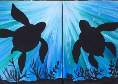 Undersea Turtles  (#544) • Instant Artist • 14x11 each • Tier 3