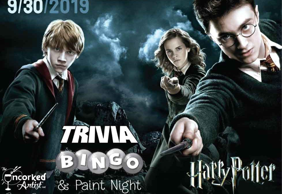 Harry Potter – Trivia-Bingo – Stenciled Wood Signs – All Ages Welcome!