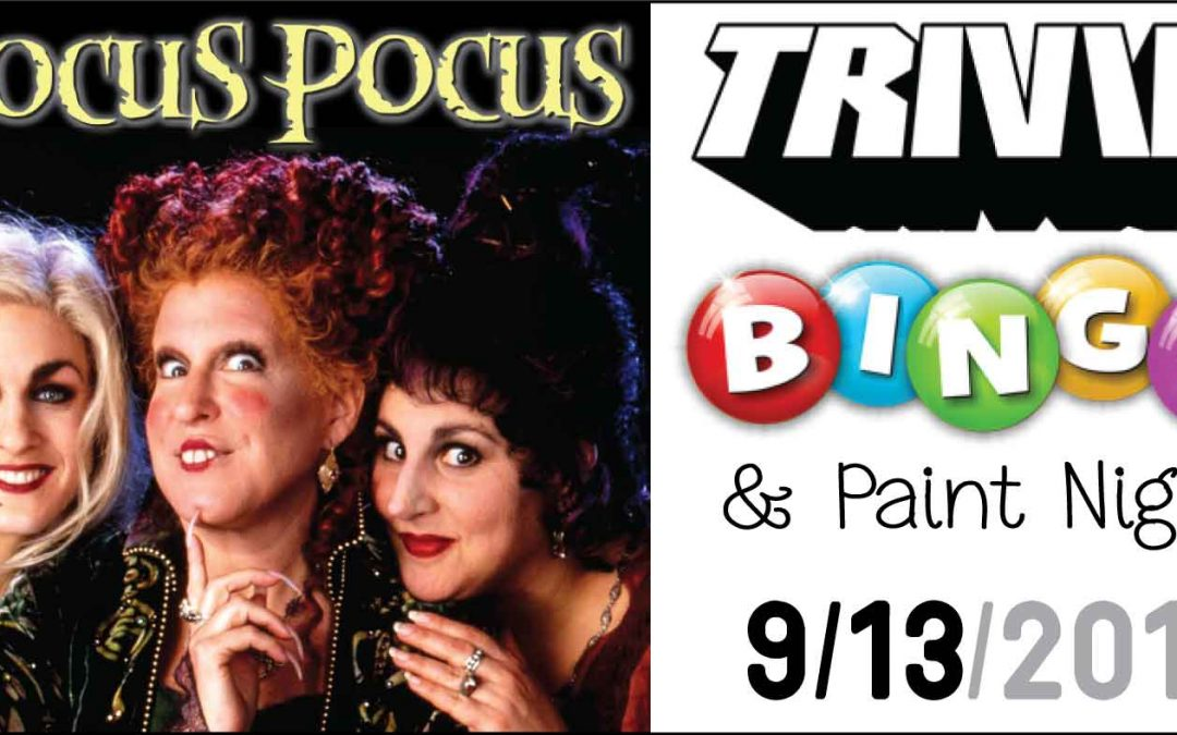 SOLD OUT – Hocus Pocus – Trivia-Bingo & Paint Night (All Ages Welcome)
