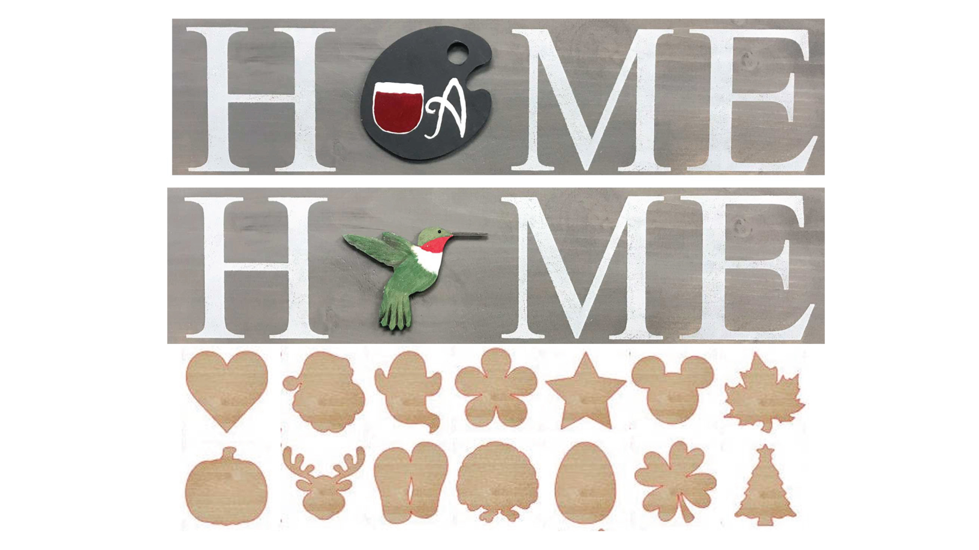 Interchangeable HOME sign - Take Home Kit