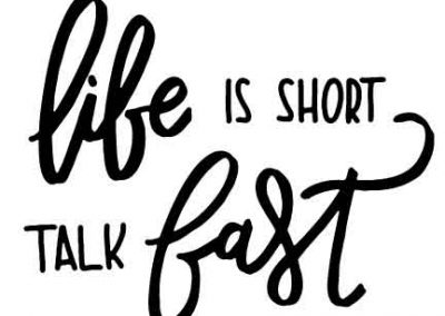 LifeIsShortTalkFast-GilmoreGirls-12x9