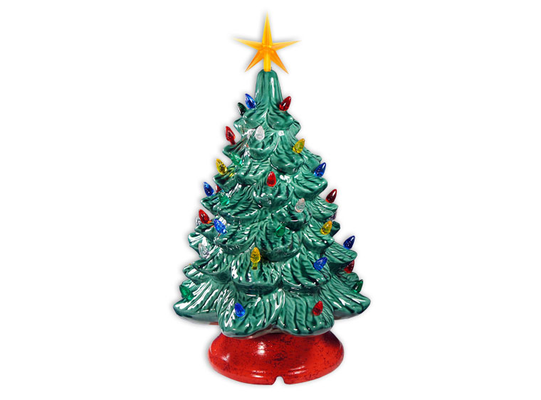 Vintage Lighted 13″ Ceramic Christmas Tree