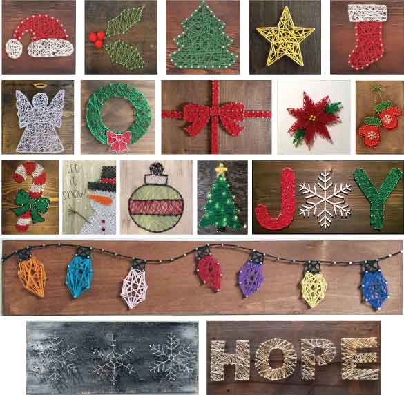 Holiday String Art – Your Choice!