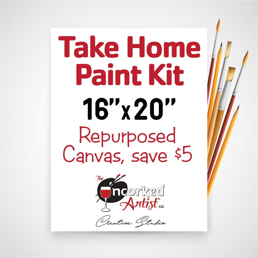 Take Home REPURPOSED 16x20 Canvas Paint Kit