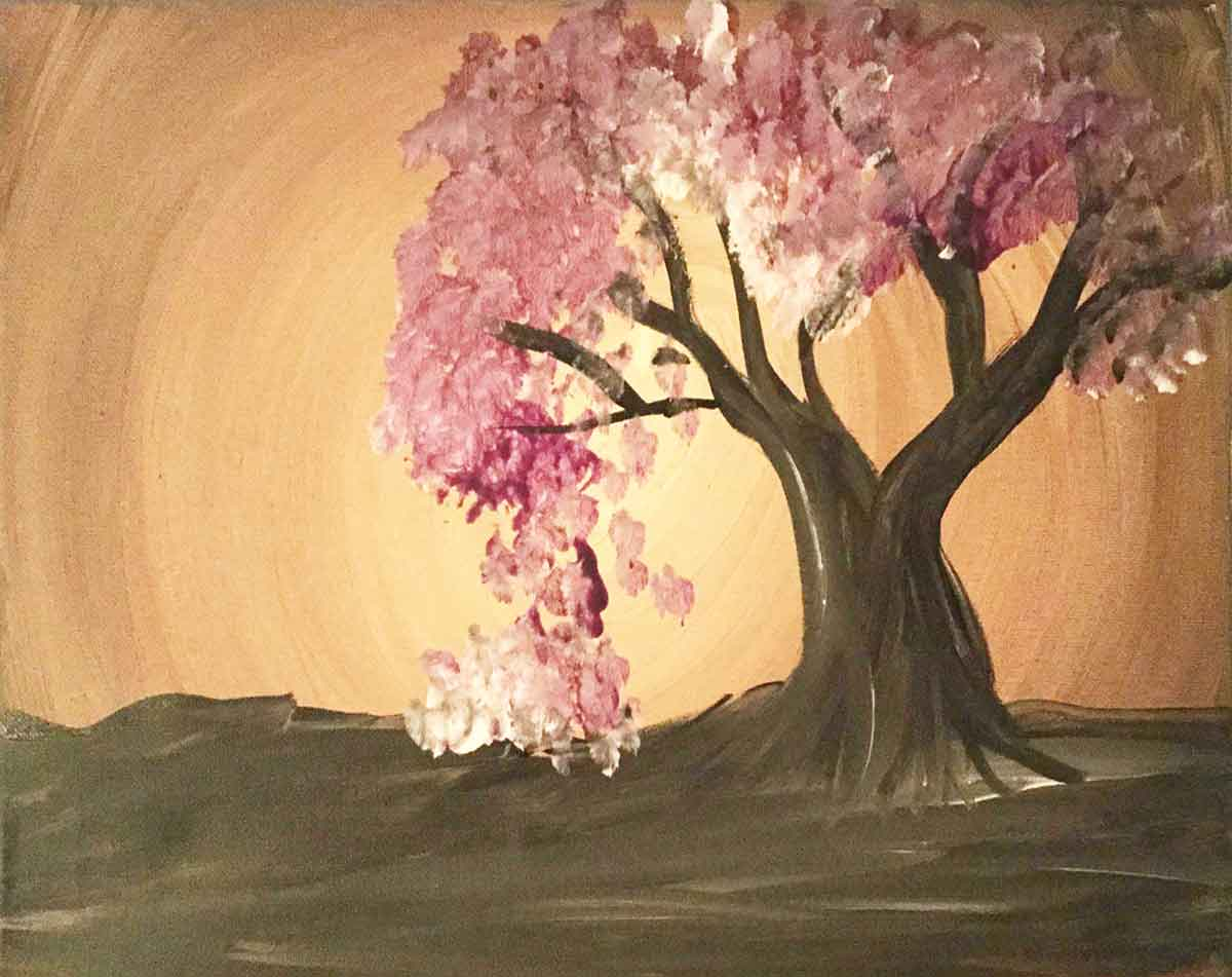 Paint In The Moment Meditative Painting - Sepia Tree