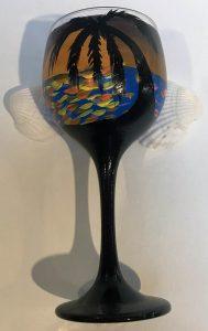 Tropical Sunset Glass